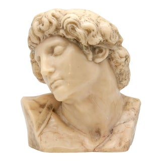 Early 20th Century Classical Wax Bust For Sale