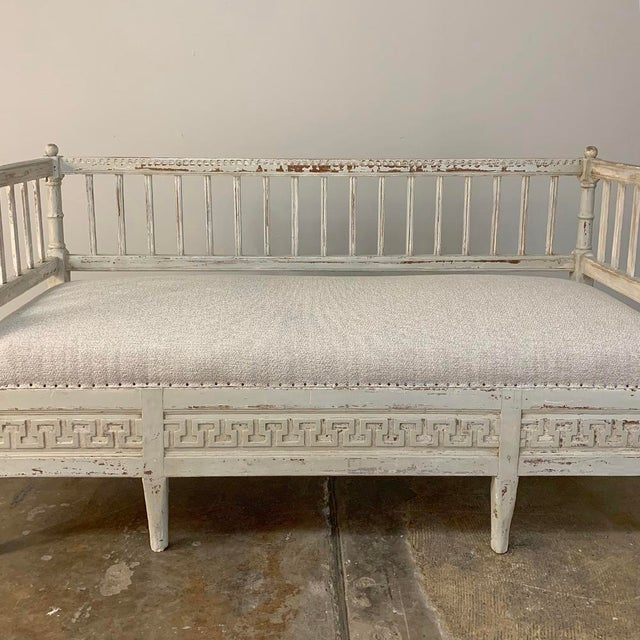 19th Century Swedish Painted Day Bed ~ Bench For Sale - Image 10 of 13