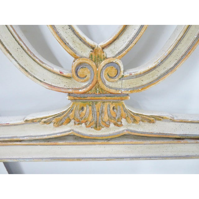 Italian Carved Cream King Headboard For Sale - Image 10 of 11