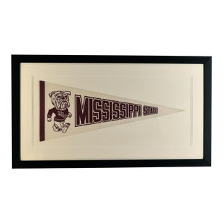 1970s Americana Mississippi State University Pennant For Sale