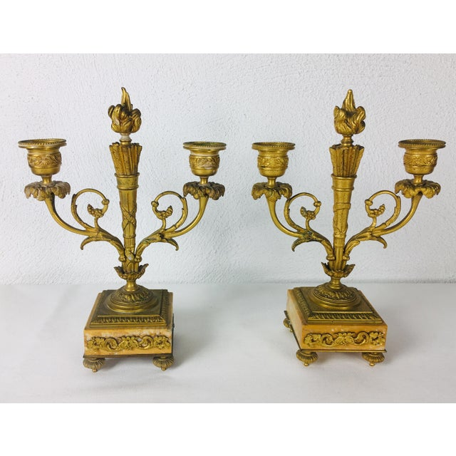 19th Century French Empire Candle Sticks – a Pair For Sale - Image 11 of 11