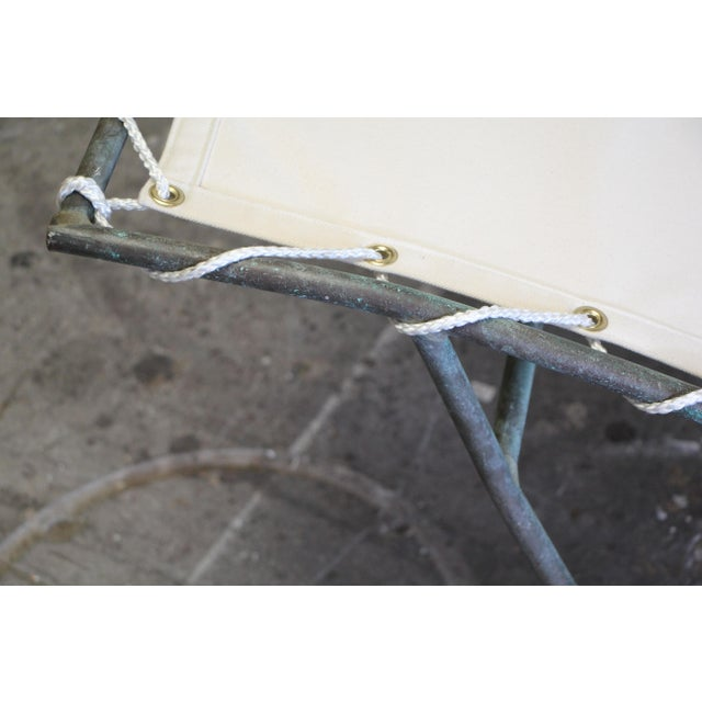 Metal Early Walter Lamb Bronze Rocking Chaise For Sale - Image 7 of 13