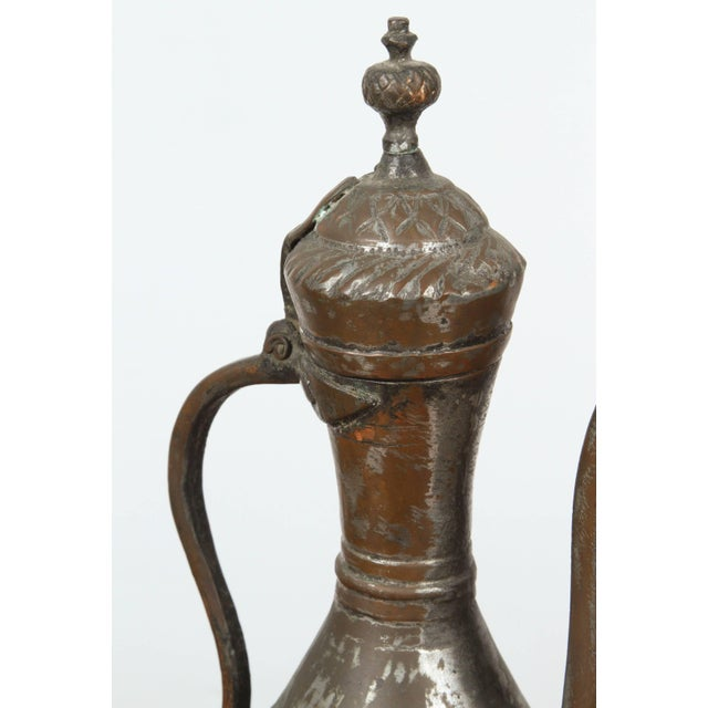 Middle Eastern Persian Tinned Copper Ewer For Sale - Image 4 of 6