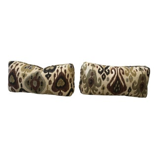 Ikat Pillows - a Pair For Sale