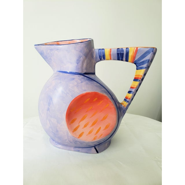 Rare piece from Morris Rushton's Flesh Pots line. Cubist meets Pop art statement piece. Amazing lines and hand painted....