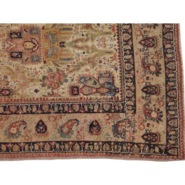 "Antique Persian Tabriz Rug - 7'3"" X 10'9"" For Sale - Image 4 of 4"
