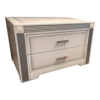 Modern Argento Bianco Italian Nightstands- A Pair For Sale