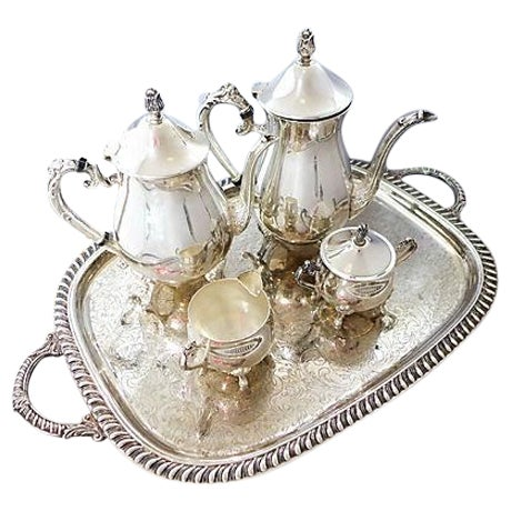 Vintage Five-Piece Silver Plate Tea & Coffee Set - Image 1 of 7