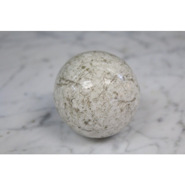 Victorian White Carpet Ball For Sale - Image 4 of 4