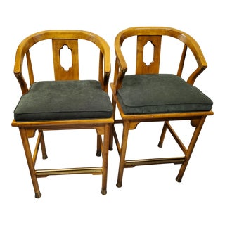 Century Chair Company Bar Stools - a Pair For Sale