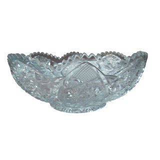 Large Cut Crystal Bowl For Sale