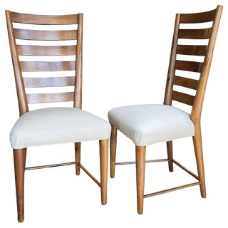 Gio Ponti Ladderback Chairs, Italy, 1940s - a Pair For Sale