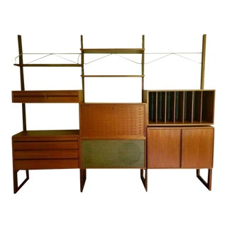 Mid-Century Modern Free Standing Wall Unit by Poul Cadovius for Cado For Sale