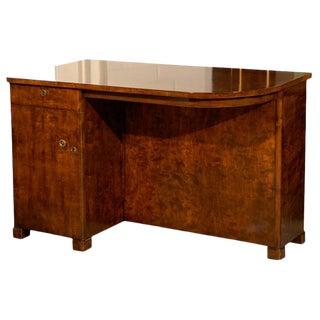 Swedish Art Deco Moderne Streamlined Writing Desk For Sale