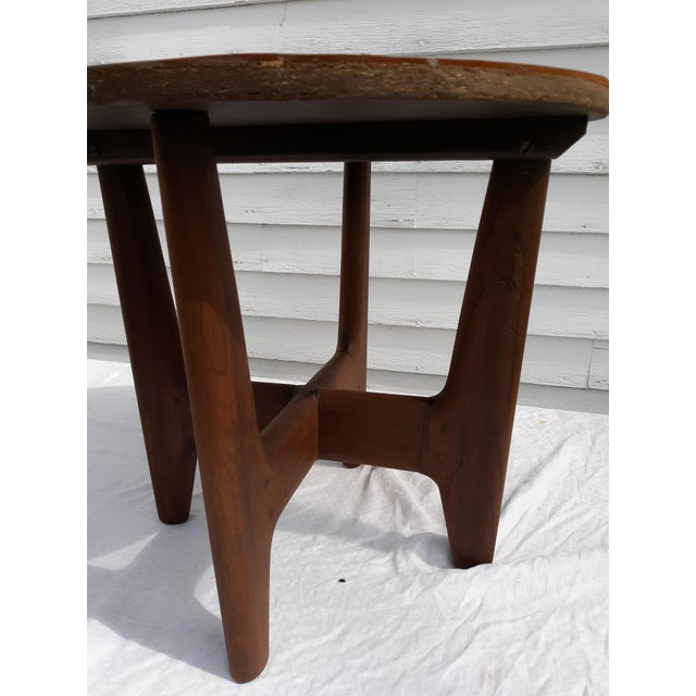 Mid-Century Modern 1960s Mid-Century Modern Angel Pazmino, Ecuador, Leather and Wood Table For Sale - Image 3 of 12