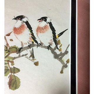 """Early 21st Century Original Chinese """"Love Forever"""" Watercolor by Gu XI Liang Preview"""