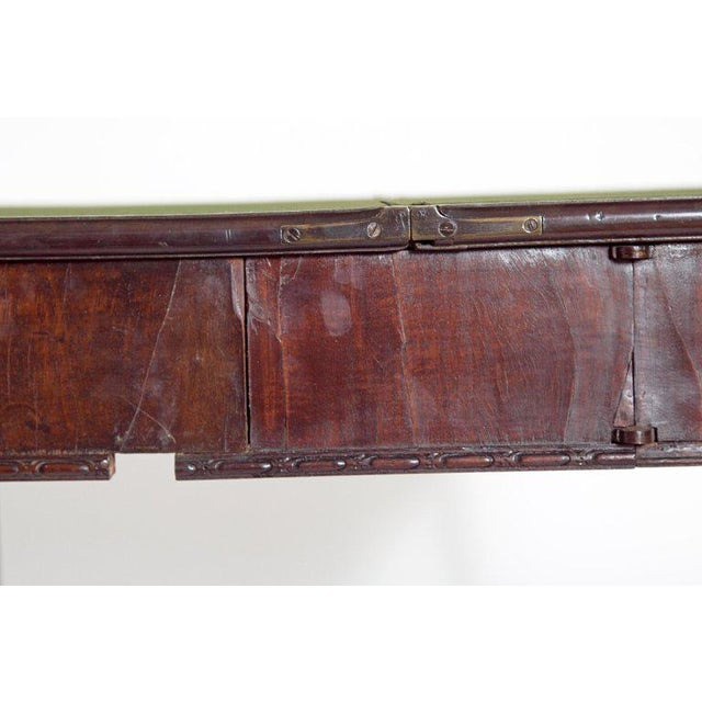 18th Century George III Mahogany Concertina Action Card Table For Sale - Image 11 of 13