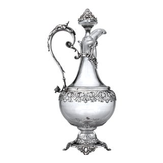 Silver and Baccarat Crystal Ewer