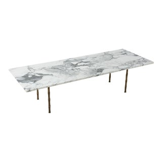 20th Century Italian Marble and Brass Coffee Table