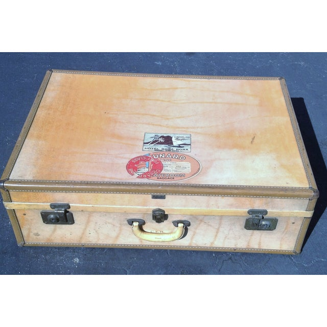 Vintage Vellum Parchment Luggage by Hartman - Image 7 of 7
