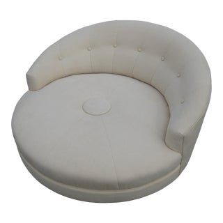 Milo Baughman Chaise Lounges Round Lounge Chair For Sale