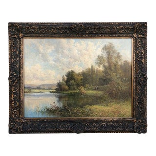 19th Century Oil Painting on Canvas Pierre Ernest Ballue For Sale