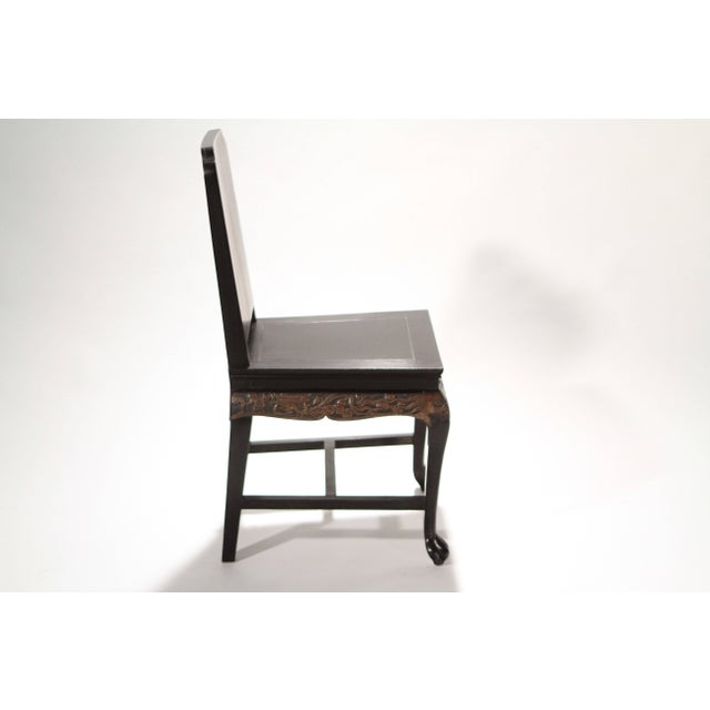 French Chinoiserie Neoclassical Chair, 1960s For Sale - Image 4 of 9