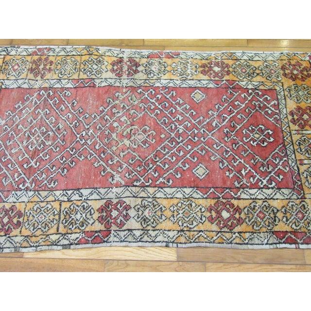 Vintage Turkish Anatolian Rug-3'4''x5'7'' For Sale - Image 4 of 7