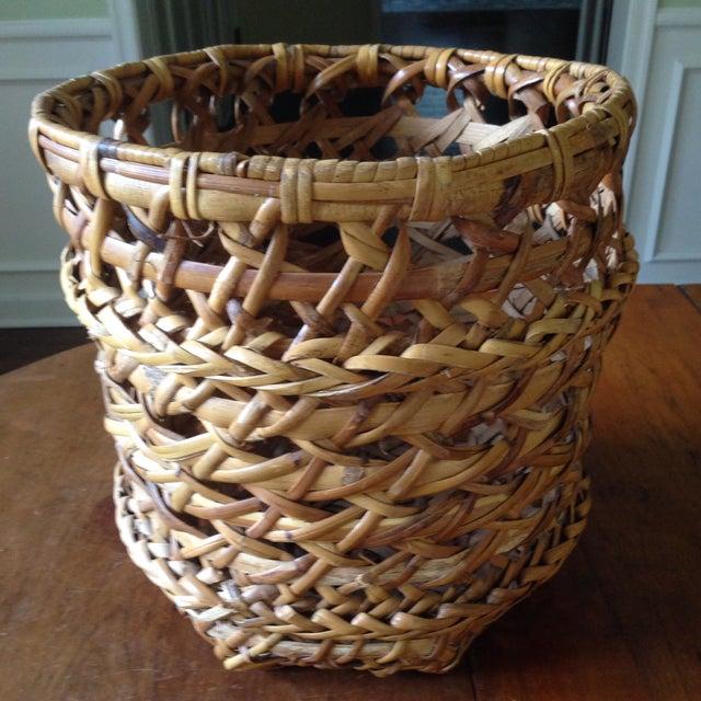Large Vintage Rattan Planter Basket - Image 11 of 11