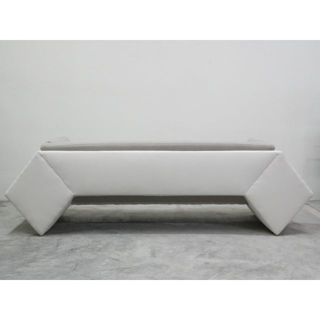 1990s Post Modern Geometric Sofa and Chair With Ottoman Set by Thayer Coggin For Sale - Image 5 of 13