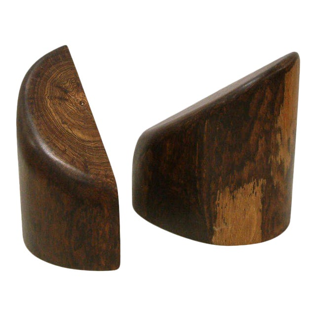 1960s Don Shoemaker Cocobolo Wood Bookends - a Pair For Sale