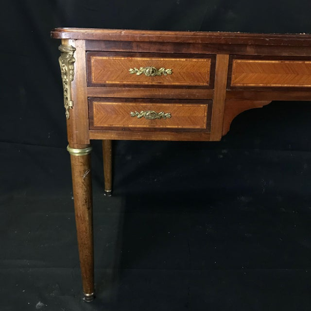 19th Century French Walnut Louis XVI Desk For Sale - Image 4 of 13