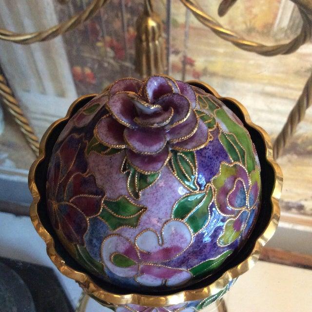 Cloisonné Floral Box - Image 4 of 5