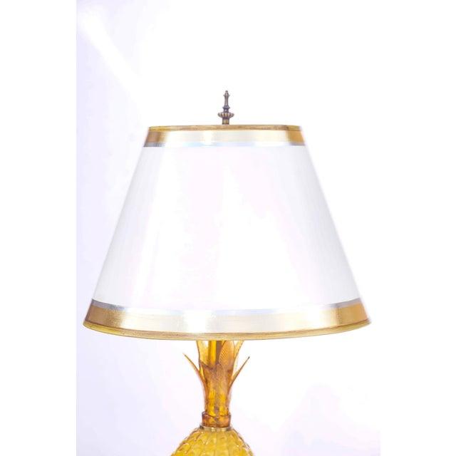 "Pair of Opaline pinapple vintage lamps 35""H base 8""d"