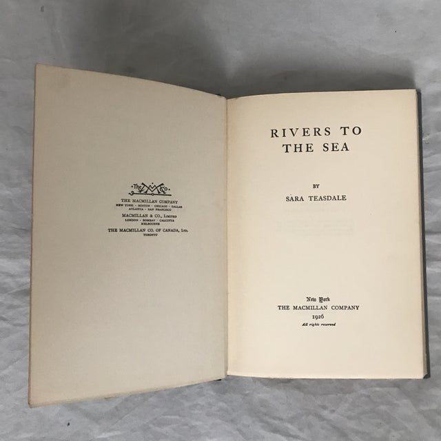 """A great poet, this is the authors second book of poetry. With an inscription dated 1927 to """"Jane, with loving regards from..."""