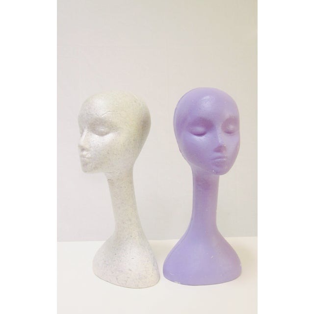 Long Neck Mannequin Heads- Set of 4 - Image 5 of 8
