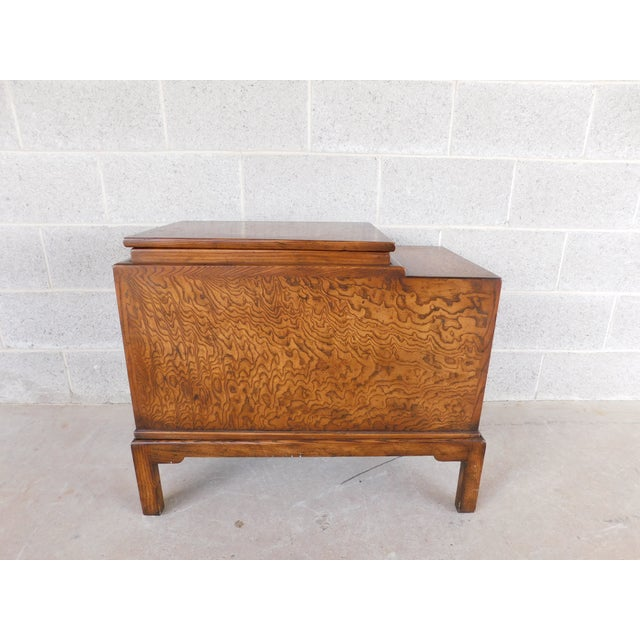 Brown Old Colony Asian Style Silver Chest Server For Sale - Image 8 of 10