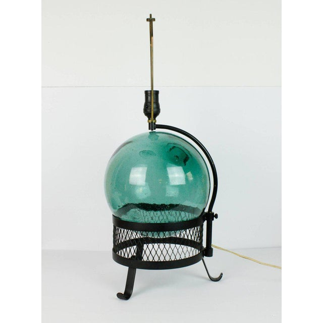 Mid-Century Japanese Fishing Float Lamp For Sale - Image 4 of 13