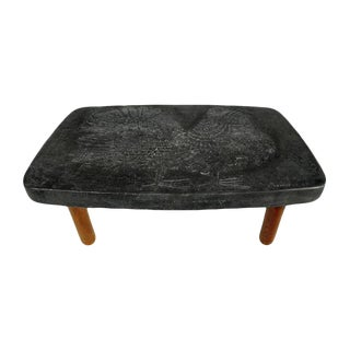 1970s Mid-Century Modern Roger Capron and Jean Derval Coffee Table For Sale