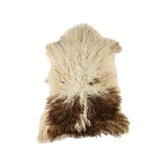 "Contemporary Long Wool Sheepskin Pelt/Handmade Rug - 2'1""x3'0"" For Sale"