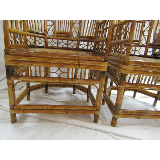 Tortoise Bent Bamboo Arm Chairs - A Pair - Image 5 of 5