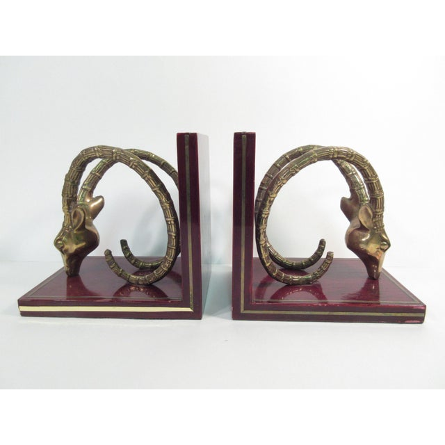 Vintage Ibex Brass Bookends - A Pair - Image 2 of 8