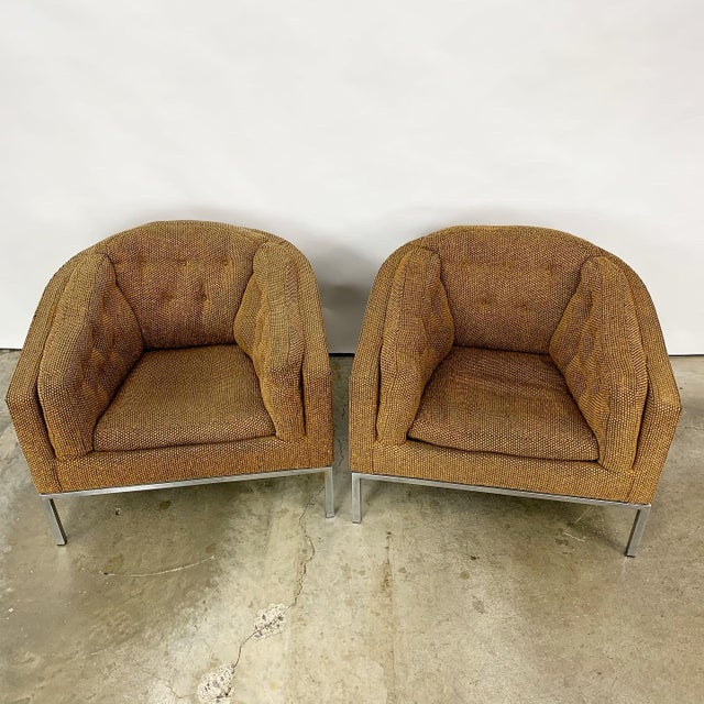 Jules Heumann Pair of Modern Club Chairs Designed by Jules Heumann For Sale - Image 4 of 11