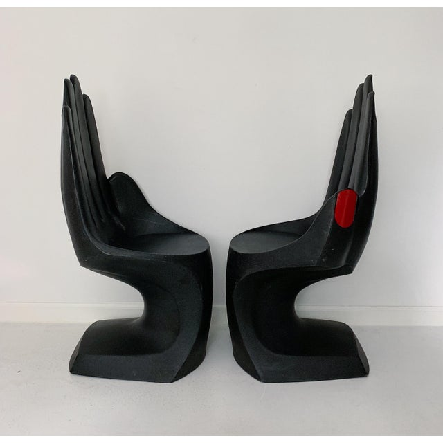 1990s Vintage European Touch Hand Chairs - a Pair For Sale - Image 5 of 7