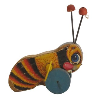 """Antique """"Buzzy Bee"""" Pull Toy"""