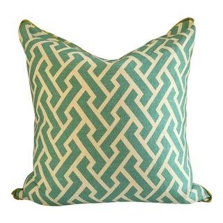 Quadrille China Seas Aga Aqua Pillow