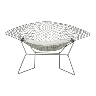 Bertoia for Knoll Large Diamond Lounge Chair For Sale