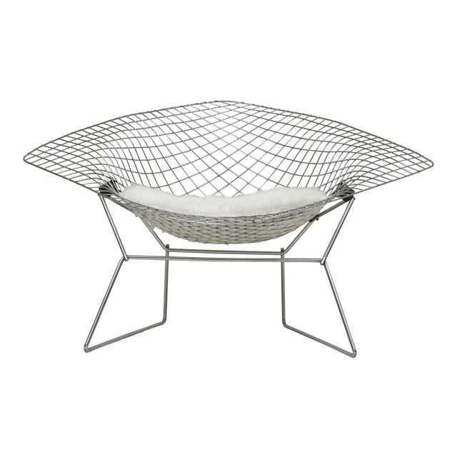 Bertoia For Knoll Large Diamond Lounge Chair Chairish - Bertoia coffee table