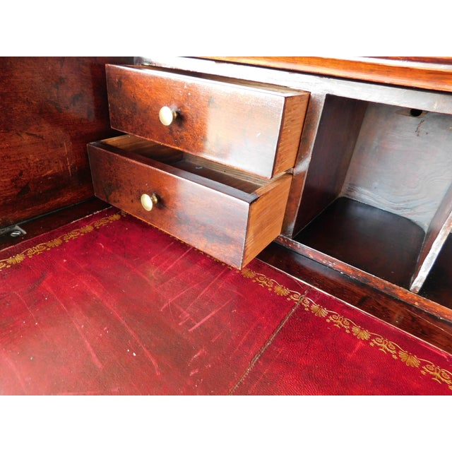 """Early 20th Century Antique Georgian Style Mahogany 2pc Breakfront Bookcase Cabinet 95""""w For Sale - Image 5 of 13"""