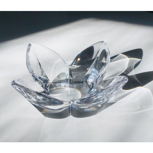 Lars Hellsten Crystal Lotus Bowl by Orrefors Scandinavian Modern Art Glass For Sale In New York - Image 6 of 6